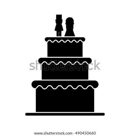 Isolated wedding cake design