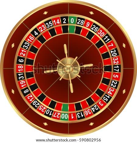 English roulette gambling token