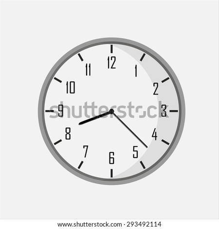 isolated white clock.  - stock vector