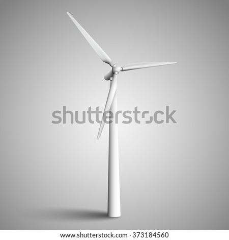 Isolated wind turbine, vector illustration. - stock vector