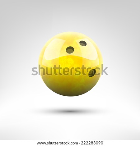 Isolated yellow bowling ball vector illustration - stock vector