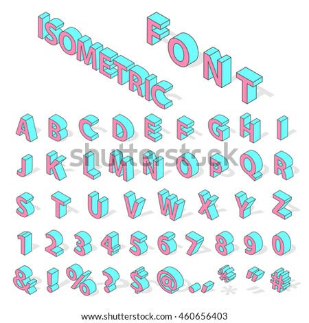 isometric alphabet typography text and isometric alphabet perspective letter art isometric alphabet latin number retro