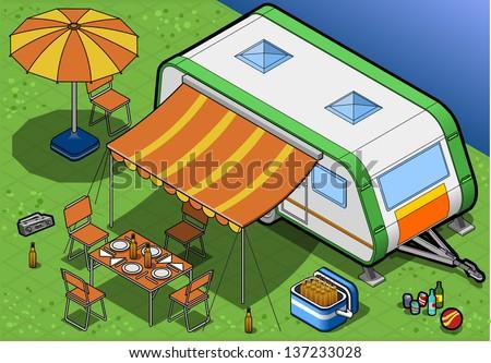 Mobile Home Park Stock Vectors & Vector Clip Art ...