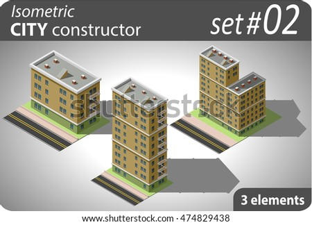 Isometric city constructor. Set - 02
