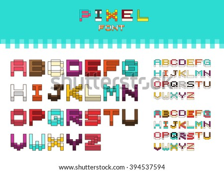 Isometric colorful alphabet font. 3D isometric letters for web and mobile device