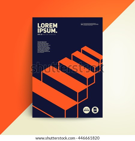 Isometric cover design architecture book vector stock vector hd architecture book vector template for brochurebannerposter ccuart Choice Image