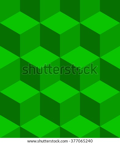 Isometric cubes seamlessly repeatable pattern. 3D cubes background. - stock vector