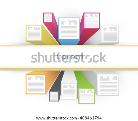 Isometric 3D Vector Infographics for Your Business - stock vector
