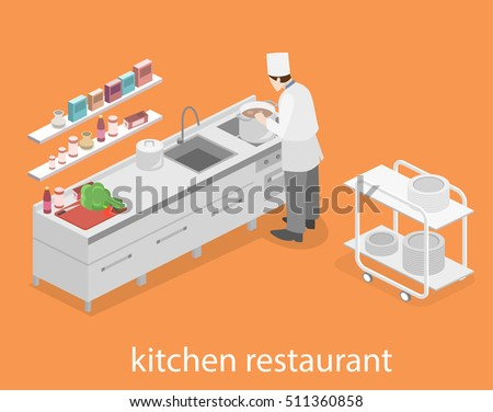 Restaurant Kitchen Illustration restaurant kitchen hood stock images, royalty-free images
