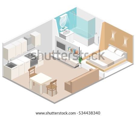 Studio Apartment Concept studio apartment stock images, royalty-free images & vectors