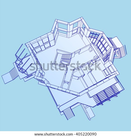 Isometric floor plan