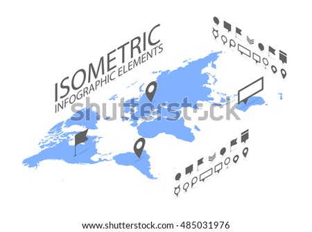 Isometric gps navigation concept world map stock vector 485031976 isometric gps navigation concept world map application and marker pin pointer vector gumiabroncs Gallery