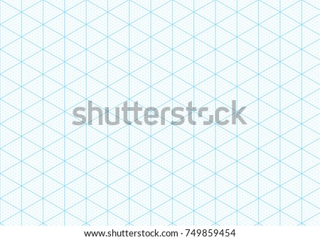 Isometric Graph Paper 3d Design Seamless Vector 421468441 – Isometric Graph Paper