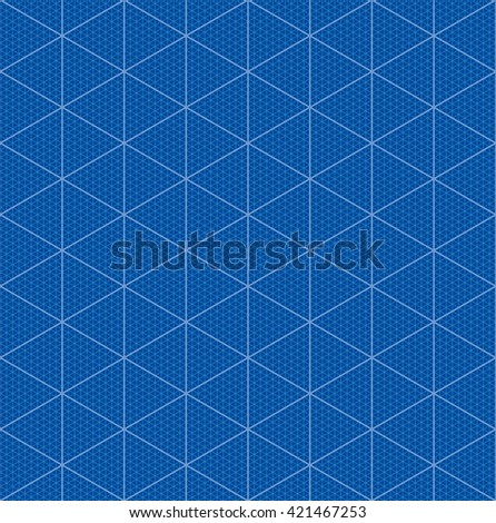 Isometric graph paper 3 d blueprint design stock vector 421467253 isometric graph paper for 3d blueprint design seamless vector pattern malvernweather