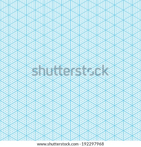 Isometric graph paper. Seamless vector. - stock vector