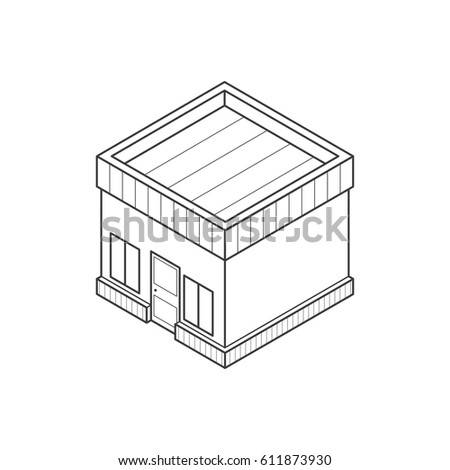 Stock images royalty free images vectors shutterstock for Straight roof line house plans