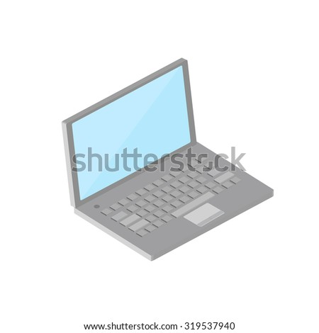Isometric laptop vector illustration
