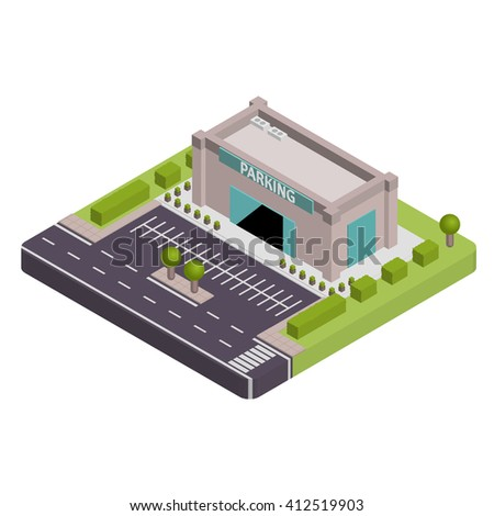 Isometric Parking vector illustration