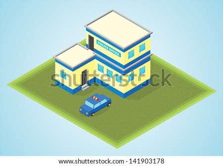 isometric police office
