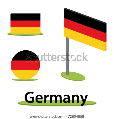 isometric set of flags from germany