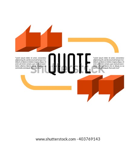 Isometric signs quote blank template template stock vector hd isometric signs quote blank template template for business card information text print reheart Image collections