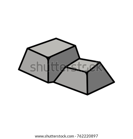 Isometric stone design