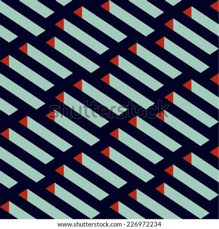 Isometric Vector Seamless Pattern - stock vector