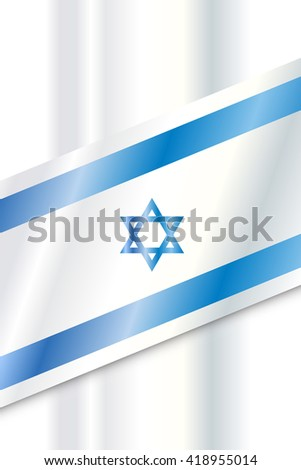 Israel flag abstract background. Israel flag symbol. Vector illustration. - stock vector