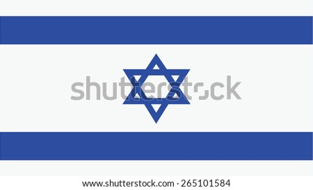 israel Flag for Independence Day and infographic Vector illustration. - stock vector