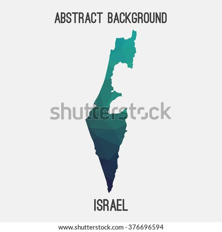 Israel map in geometric polygonal style.Abstract tessellation,modern design background. Vector illustration EPS8