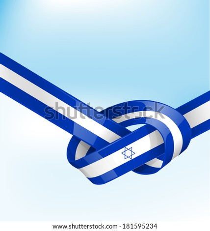 Israeli flag on background - stock vector