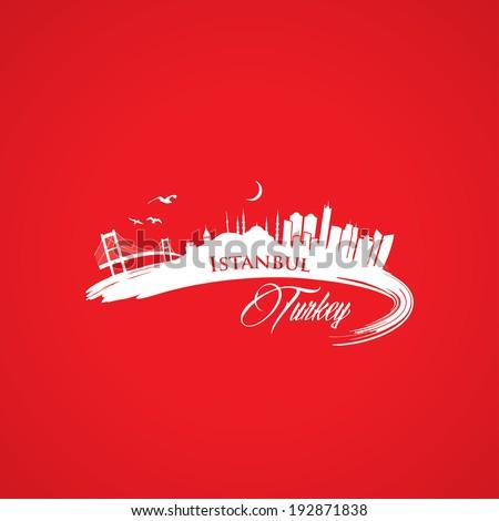 Istanbul skyline - vector illustration - stock vector