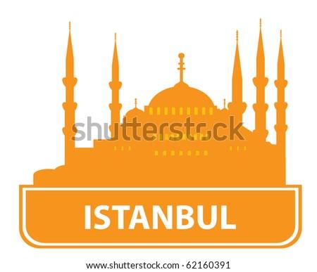 Istanbul skyline. Vector illustration for you design - stock vector