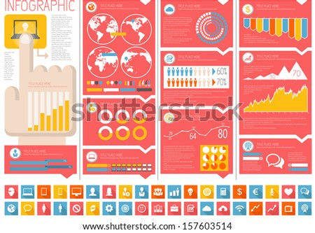 IT Industry Infographic Elements - stock vector