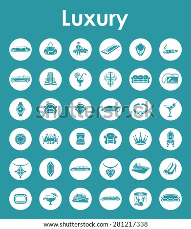 It is a set of luxury simple web icons - stock vector