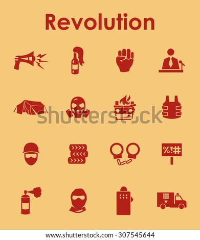 It is a set of revolution simple web icons - stock vector