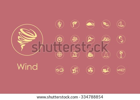 It is a set of wind simple web icons - stock vector