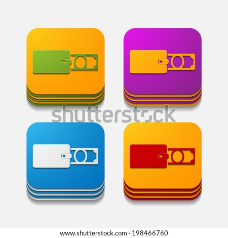 it is a square button in modern style