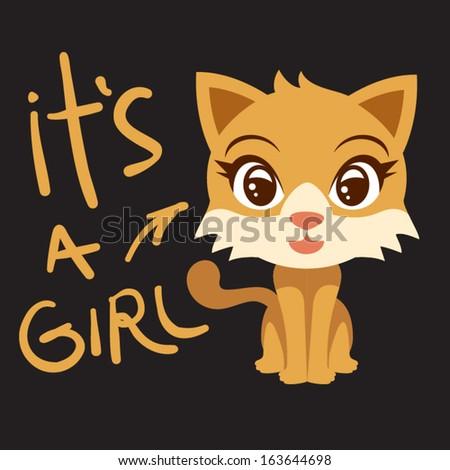 it's a Girl - stock vector