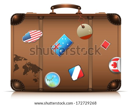 It's travel time.Vector illustration. - stock vector