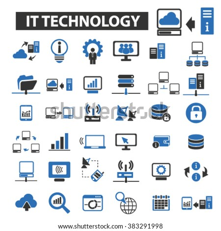 it technology icons - stock vector