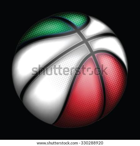 Italian basketball, vector - stock vector