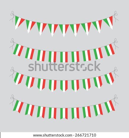italian bunting - stock vector