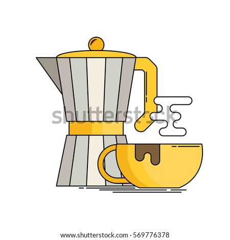 Italian Coffee Maker Vector : Geyser Cartoon Stock Images, Royalty-Free Images & Vectors Shutterstock