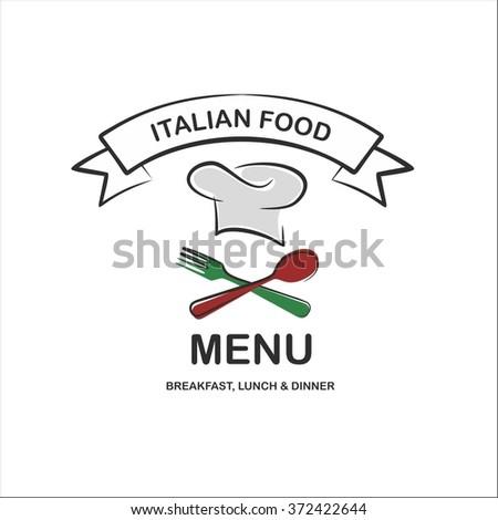 Italian food menu - stock vector