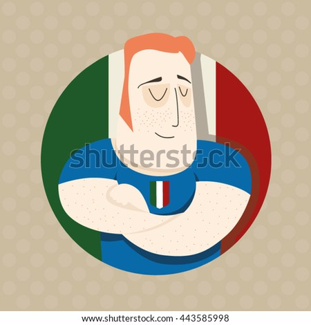 Italian football player  - stock vector