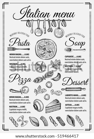 Italian Menu Stock Images, Royalty-Free Images & Vectors