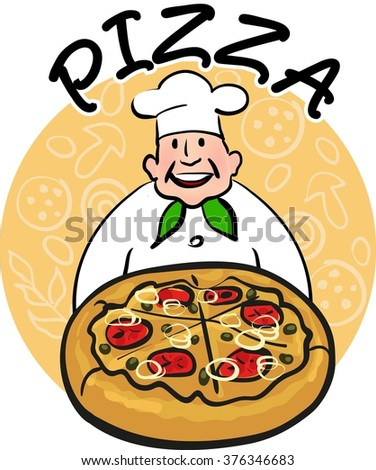 Italian pizza. Cook with pizza