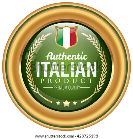 italian product icon - stock vector