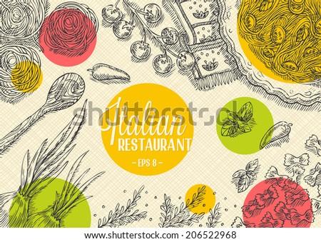 Italian Restaurant Template - stock vector